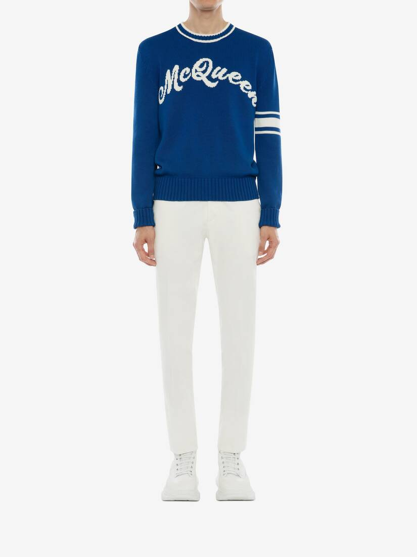 Display a large version of the product image 2 - McQueen Intarsia Crew Neck Jumper