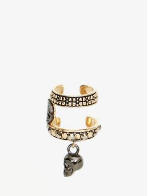 Skull and Charm Seal Ear Cuff
