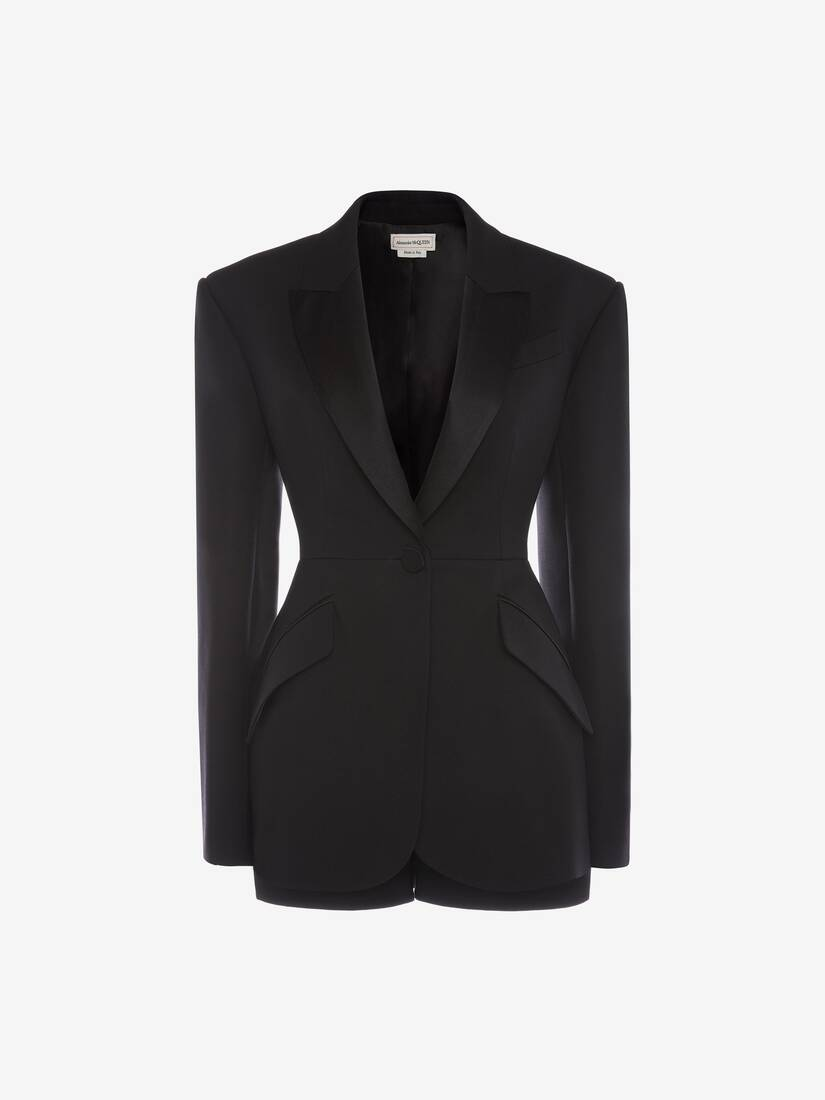 Trompe L'œil Light Wool Silk Tuxedo Jacket