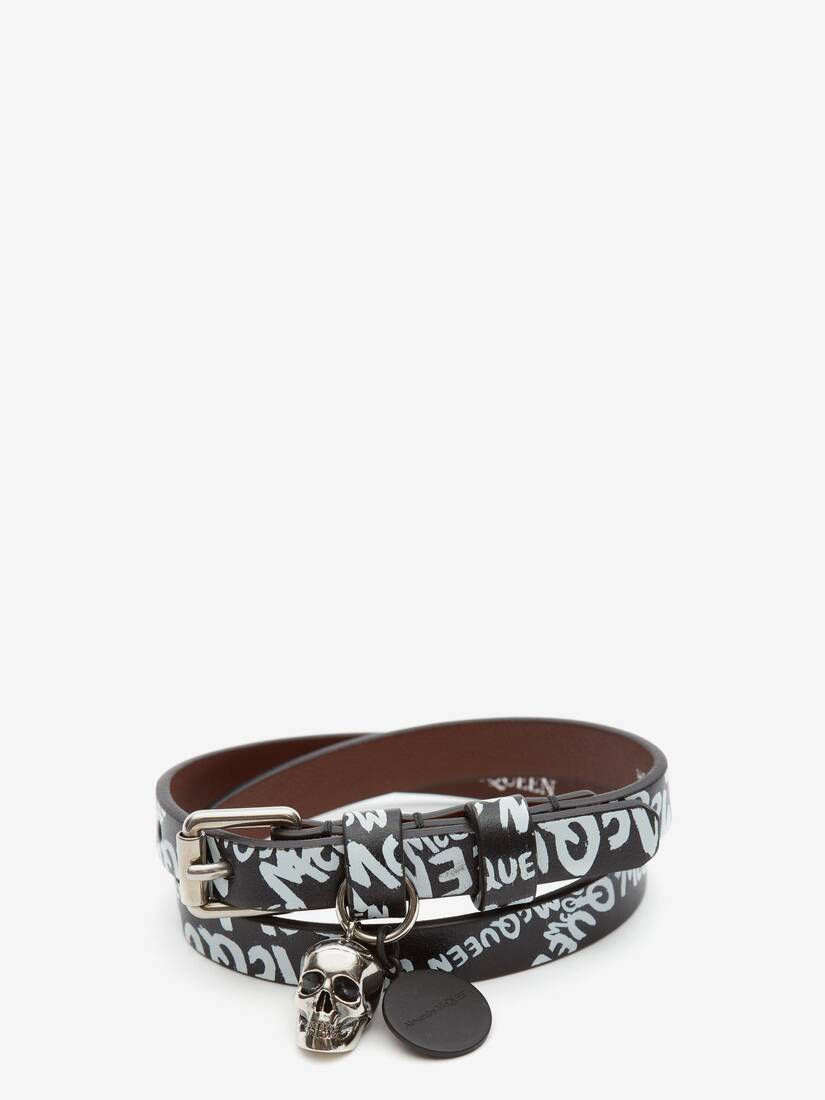 Display a large version of the product image 1 - McQueen Graffiti Double-Wrap Bracelet