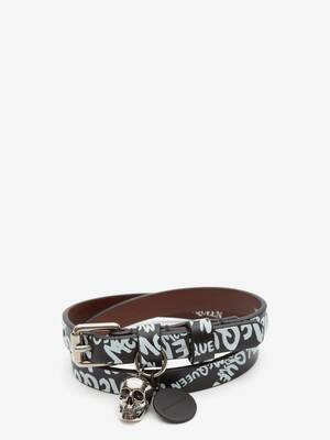 Bracelet double tour McQueen Graffiti