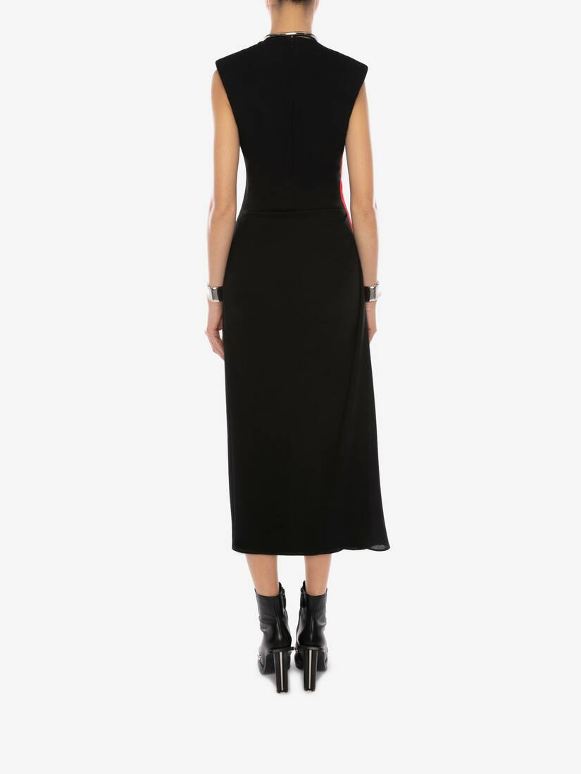 Display a large version of the product image 4 - Military Wool Crepe Midi Dress