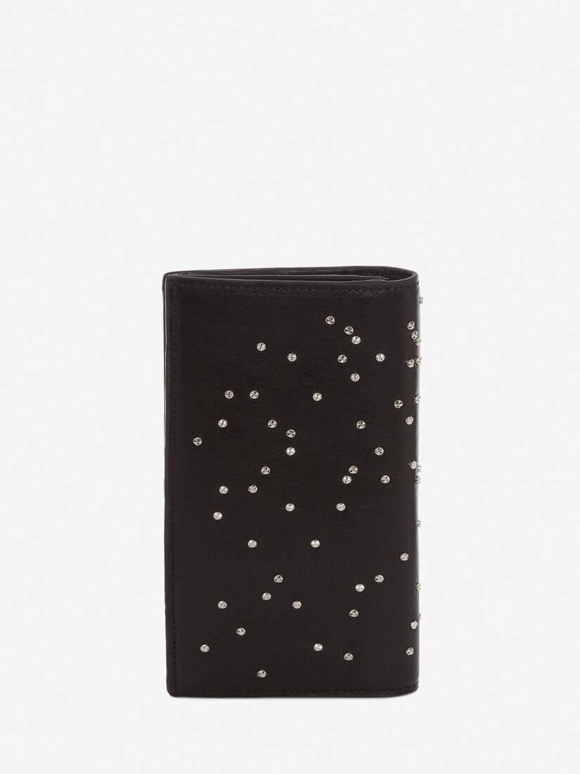 Display a large version of the product image 3 - Studded Leather Folded Long Wallet