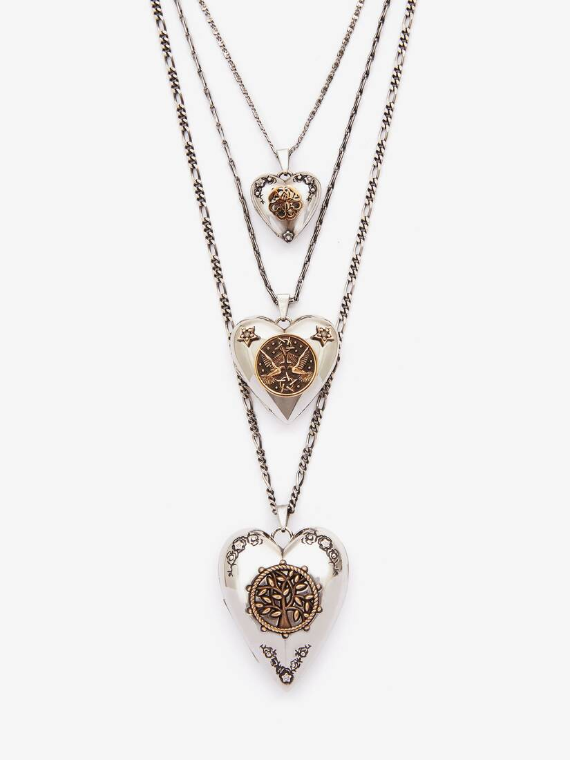 Display a large version of the product image 2 - Triple Layer Heart Necklace