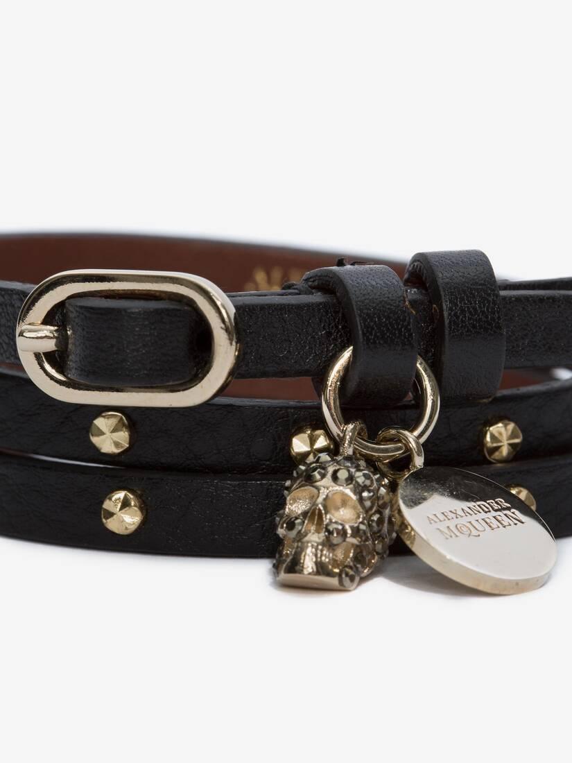 Afficher une grande image du produit 3 - Bracelet double tour clouté