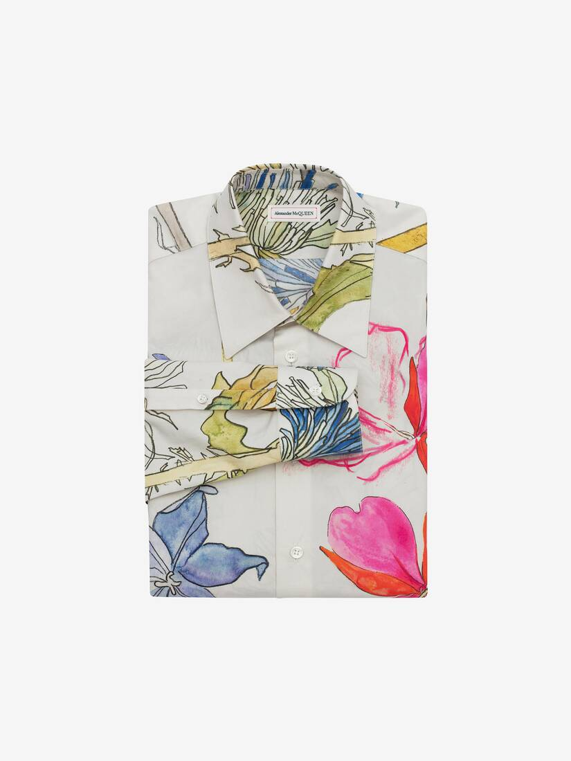 Display a large version of the product image 1 - Deconstructed Floral Shirt