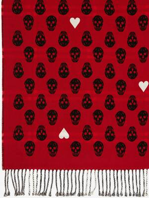 Heart and Skull Welsh Check Stole