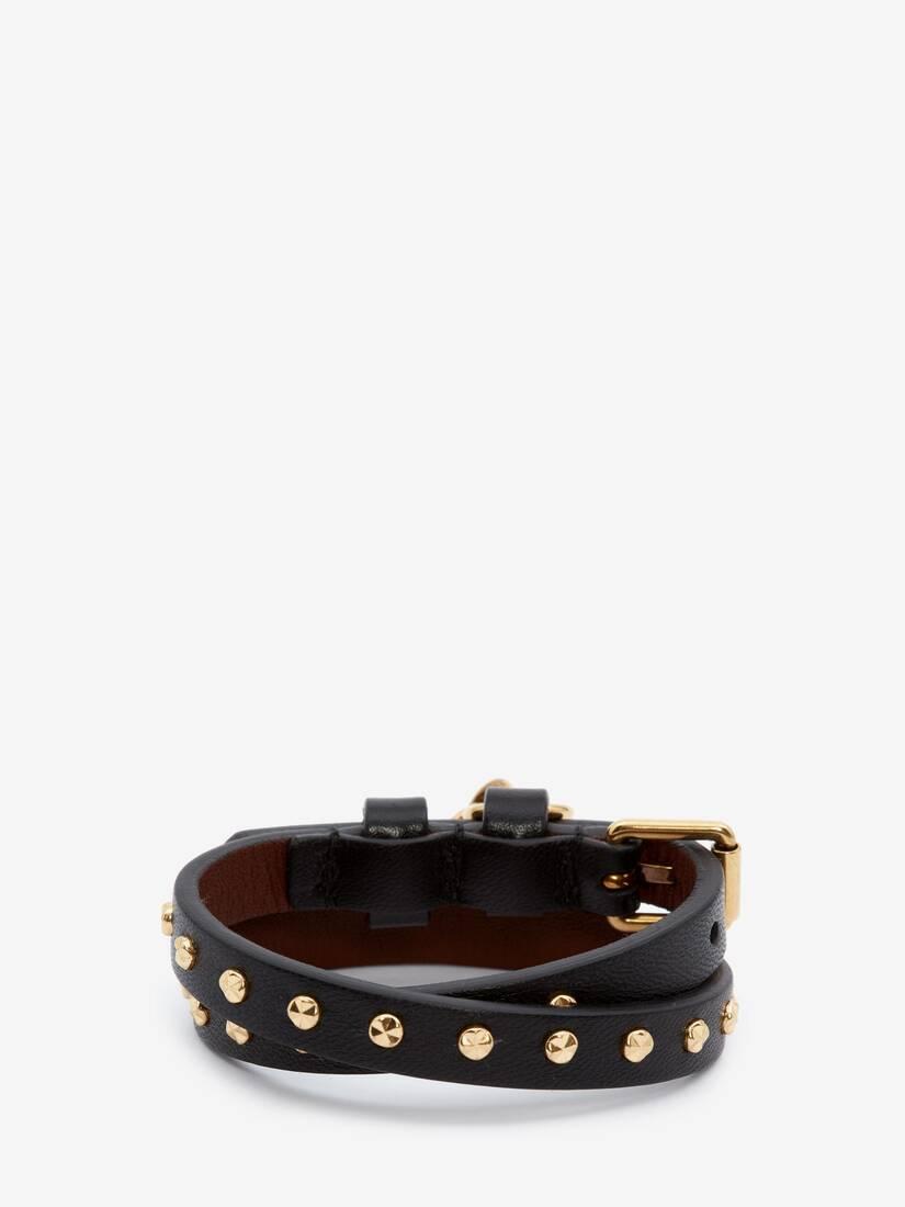 Bracelet double tour avec clous martelés