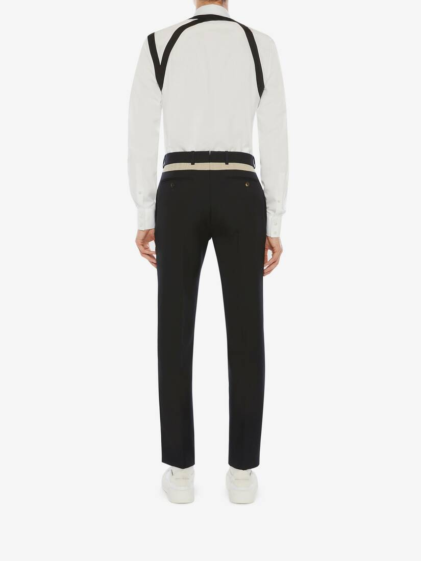 Panelled Wool Serge Trousers