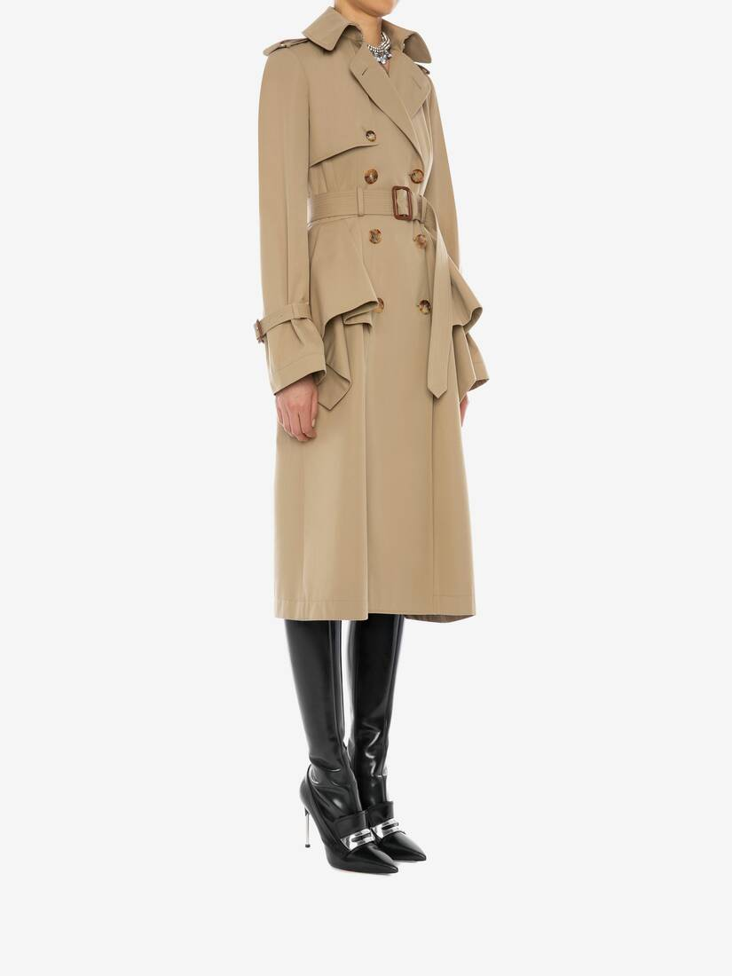 Display a large version of the product image 3 - Peplum Trench Coat