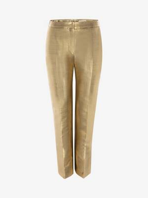 Metallic Moiré Cigarette Trouser