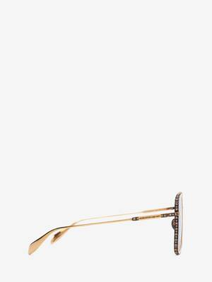 Jewelled Square Sunglasses