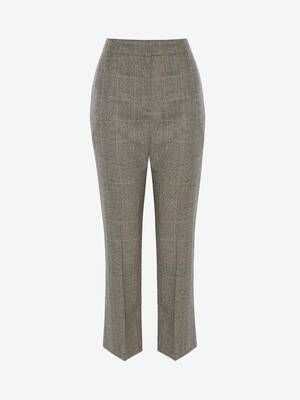 Distressed Prince of Wales Cigarette Trouser