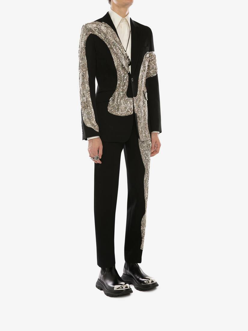 Display a large version of the product image 3 - Molten Metal Embroidered Cigarette Trousers
