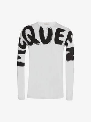 McQueen Graffiti Kimono Sleeve T-Shirt