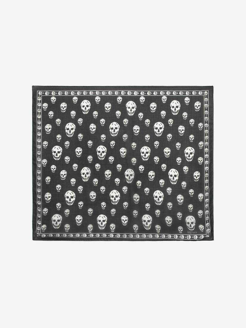 Display a large version of the product image 1 - Classic Silk Skull Scarf