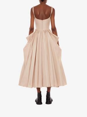 Corset Bow Drape Dress