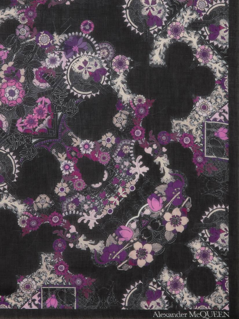 Display a large version of the product image 3 - Art Nouveau Skull Pashmina