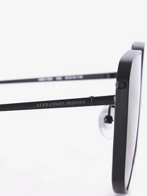 Piercing Shield Metal Sunglasses