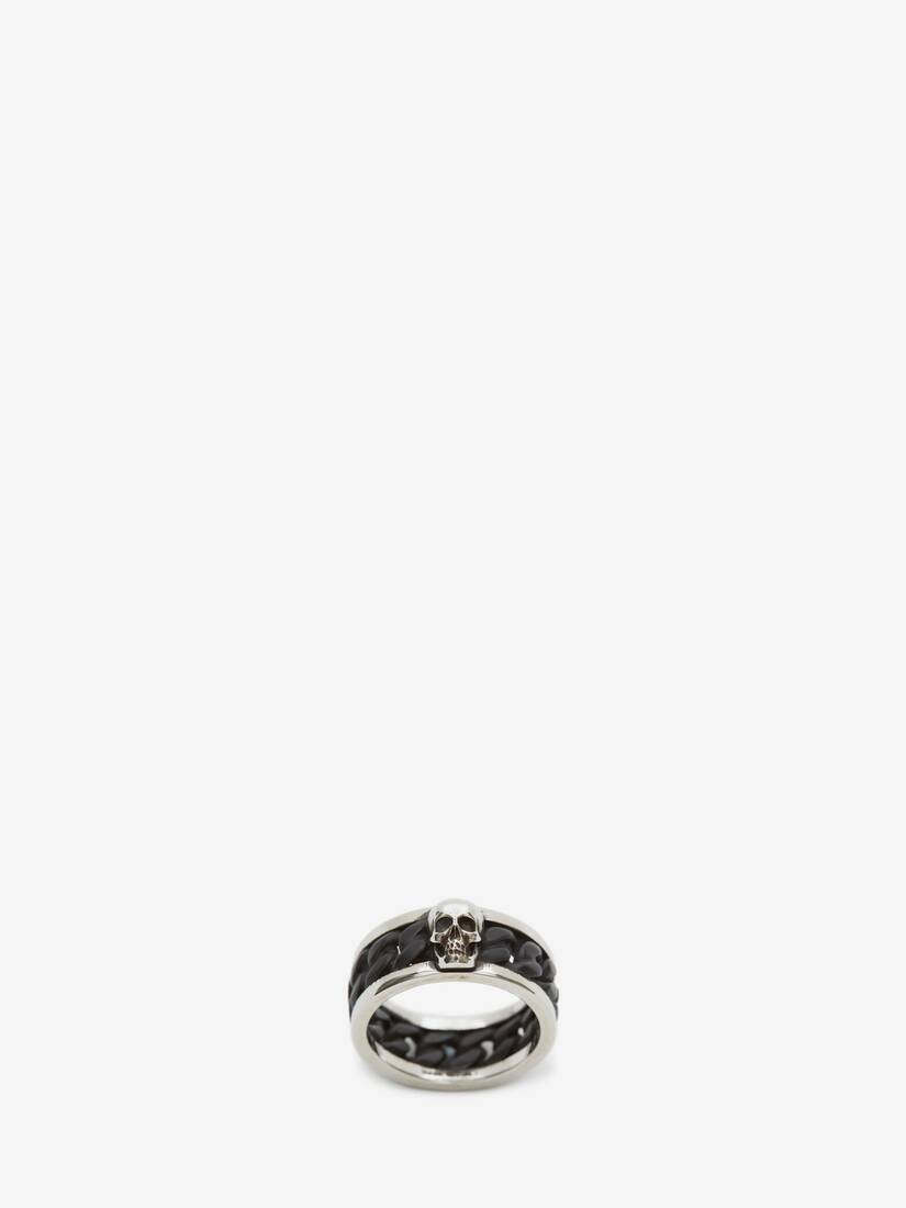 Display a large version of the product image 1 - Bi-Colour Skull Chain Ring