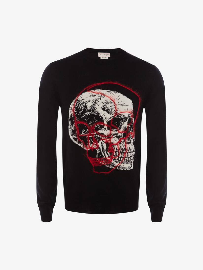 Display a large version of the product image 1 - Overlay Skull Crew Neck Jumper