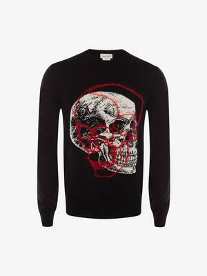 Pull col rond Skull superposé