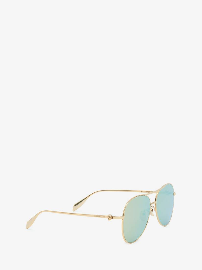 Light Skull Pilot Sunglasses