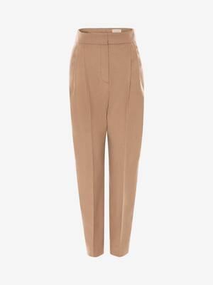 Pantalon en feutre camel