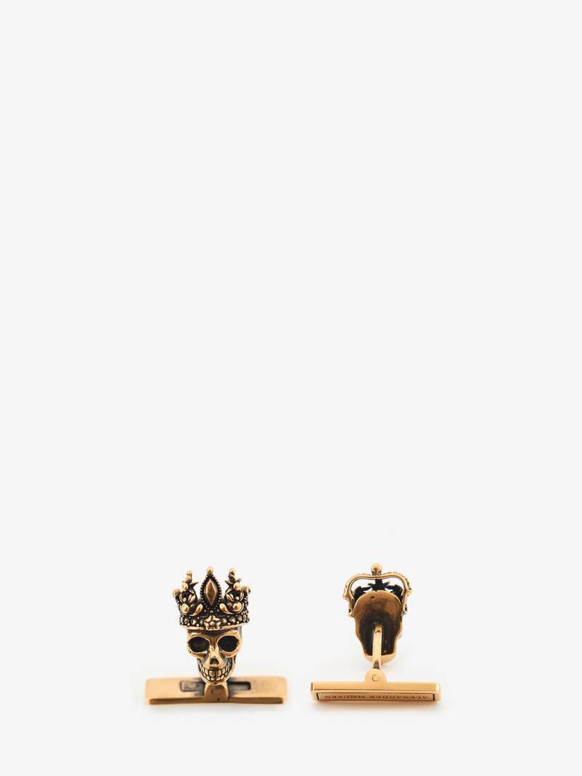 Afficher une grande image du produit 2 - Boutons de manchettes avec détails Skull roi et reine