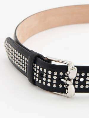 Twin Skull Leather Belt