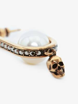 Pearly Skull Earrings