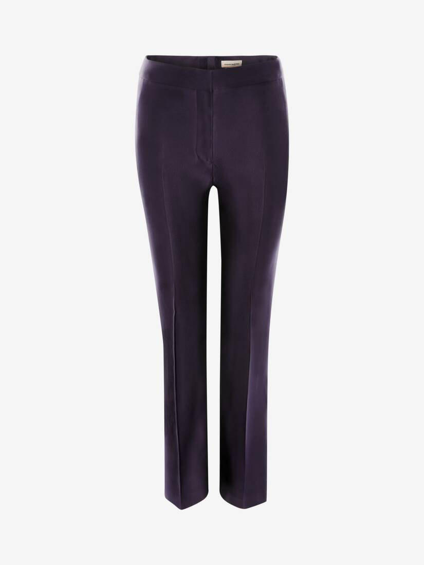 Display a large version of the product image 1 - High-Waisted Cigarette Trouser