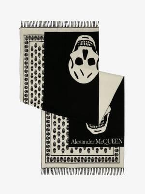 Übergroßer Skull-on-Skull-Schal