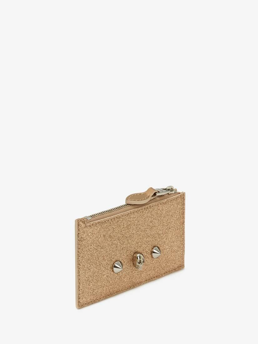 Afficher une grande image du produit 2 - Porte-cartes zippé avec skull et clous