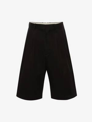 Cotton Gabardine Baggy Tailored Shorts