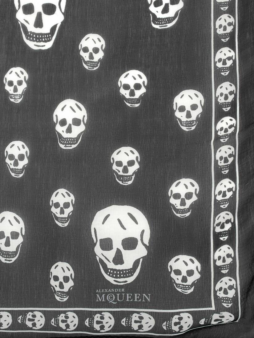 Display a large version of the product image 3 - Classic Silk Skull Scarf