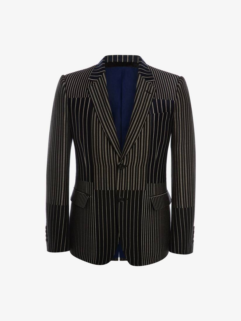 Display a large version of the product image 1 - Patchwork Pinstripe Jacket