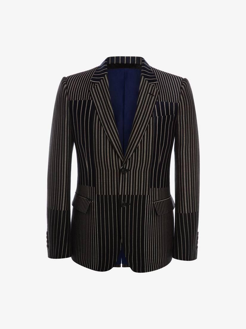 Patchwork Pinstripe Jacket
