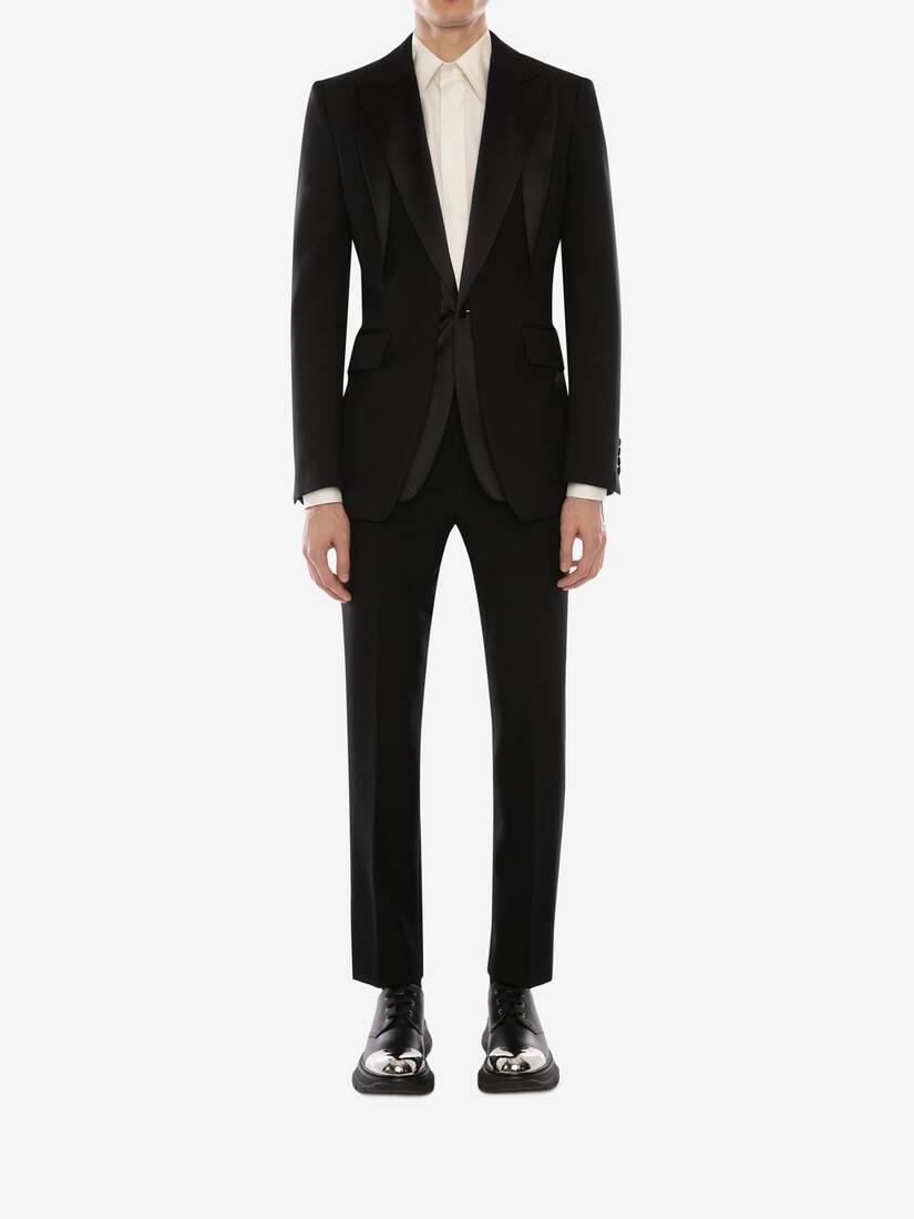 Wool Gabardine Trompe L'œil Tuxedo Jacket