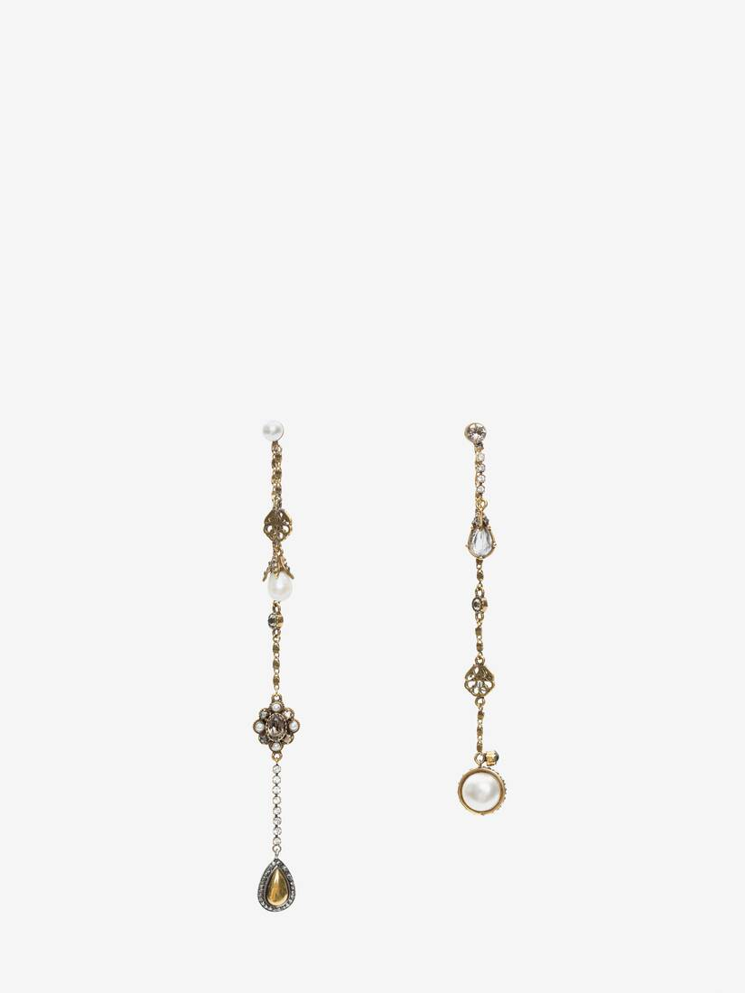 Display a large version of the product image 1 - Signature Chain Drop Earrings