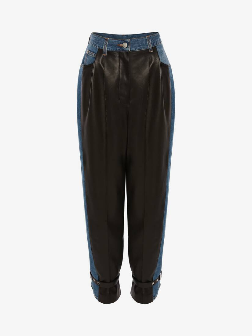 Hybrid Leather Trouser