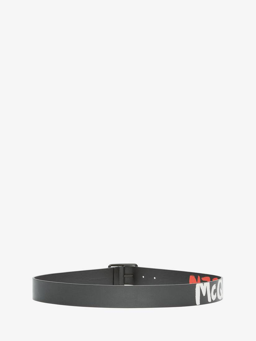 Display a large version of the product image 2 - McQueen Graffiti Reversible Belt