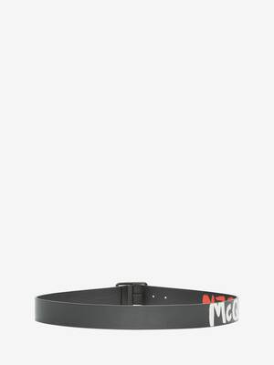 McQueen Graffiti Reversible Belt