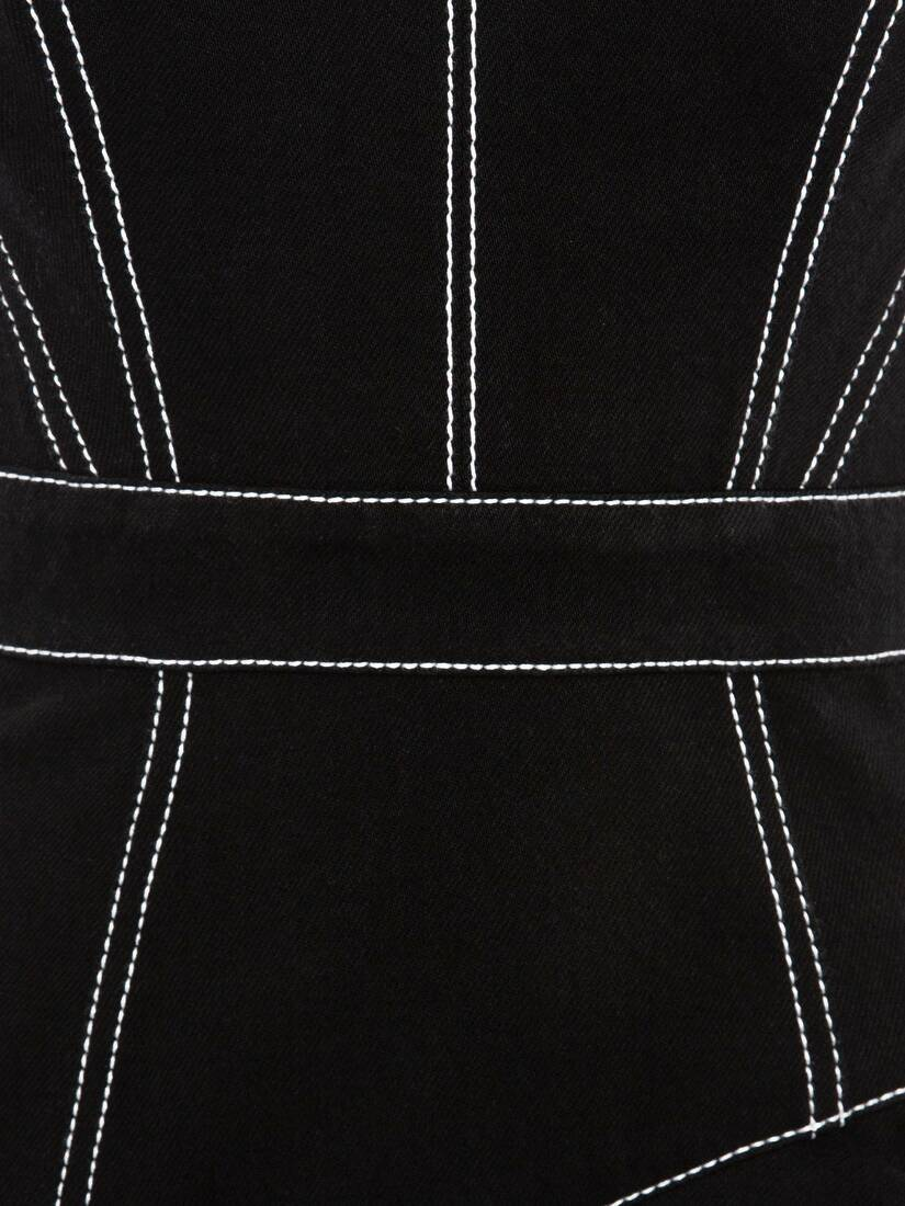 Afficher une grande image du produit 5 - Robe midi en jean à basque