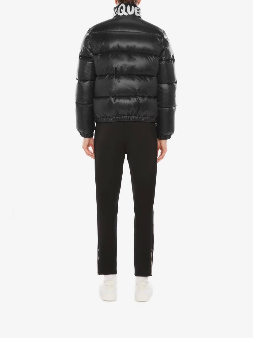 McQueen Graffiti Puffer Jacket
