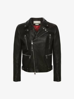McQueen Classic Leather Biker Jacket