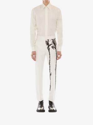Embroidered Thistle Trousers
