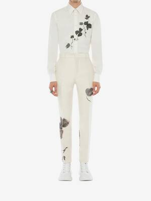 Pantalon en jacquard Camo Ink Floral