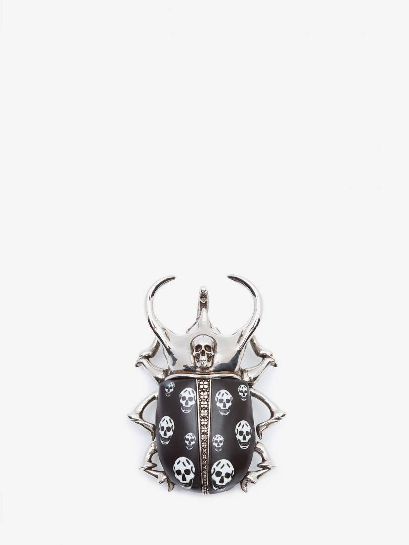 Display a large version of the product image 1 - Beetle Skull Brooch