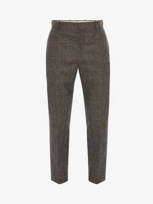 Prince of Wales Wool Flannel Trouser